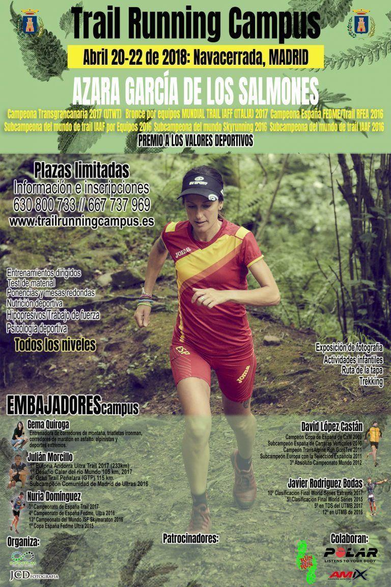 TRAIL RUNNING CAMPUS. Del 20 al 22 de Abril en NAVACERRADA