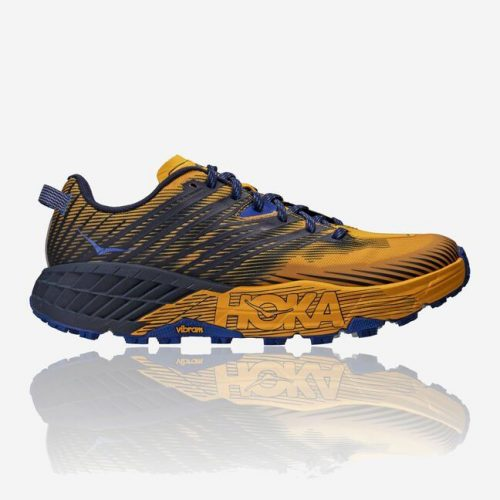 Hoka SPEEDGOAT 4 YELLOW BLUE